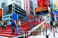 NYC-Times Square Red Steps